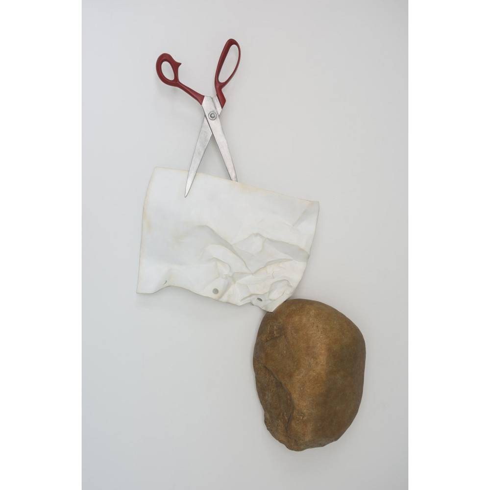 Kevin Box Wall hanging Rock, Paper, Scissors in aluminum