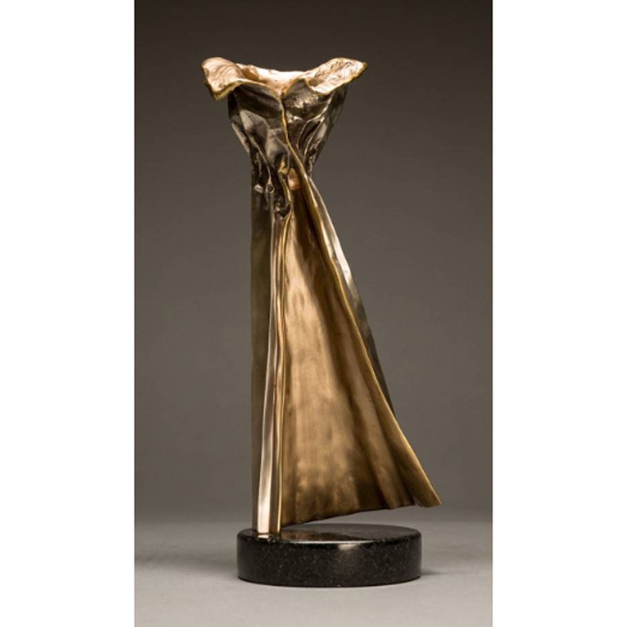 Kevin Box Silver Ballgown in bronze