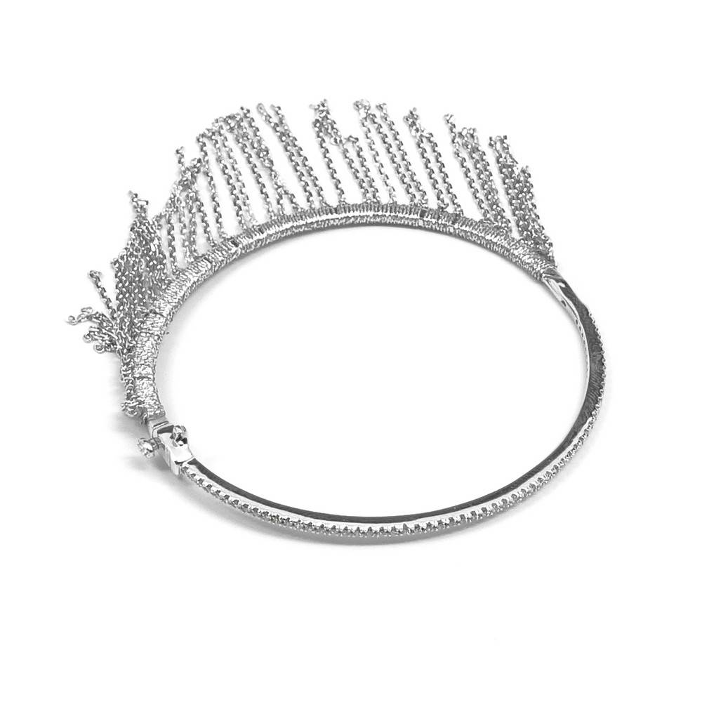 Simon Alcantara Star Child Bracelet with fringe & diamonds