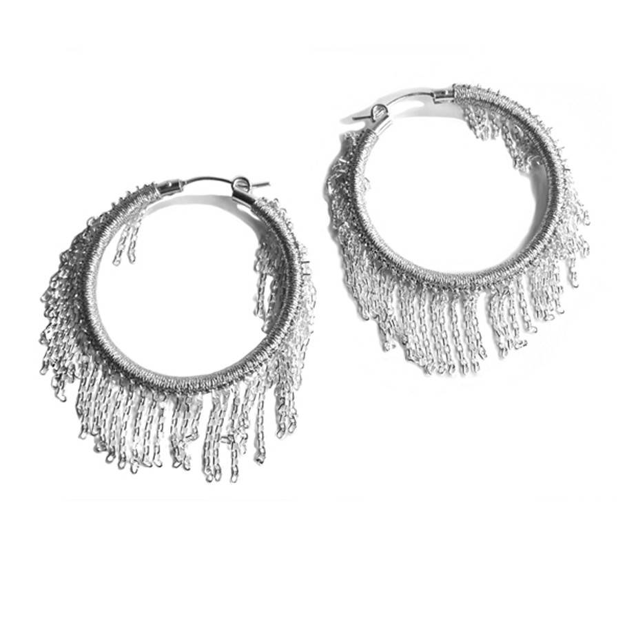 Simon Alcantara Odyssey Fringe Earrings