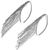 Simon Alcantara Odyssey Curved Fringe Earrings in silver
