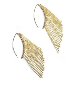 Simon Alcantara Odyssey Curved Fringe Earrings