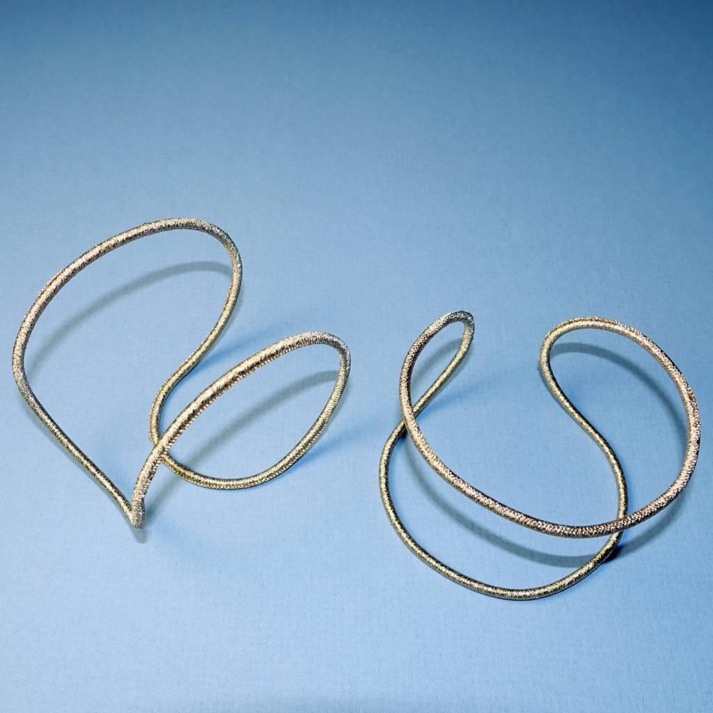 Simon Alcantara Helios Luminis Cuff Bracelet in silver cord