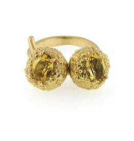 Federica Rettore Campanellino Double Stone Pinky Ring