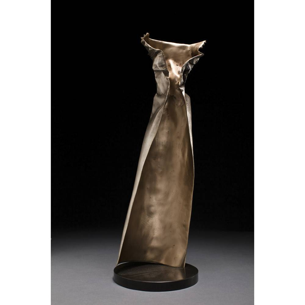 Kevin Box Silver Couture Dress in bronze