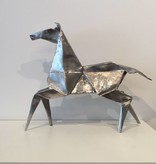 Kevin Box Origami Desktop Pony in stainless steel