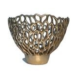 Branch Mushroom polished bronze candle holder