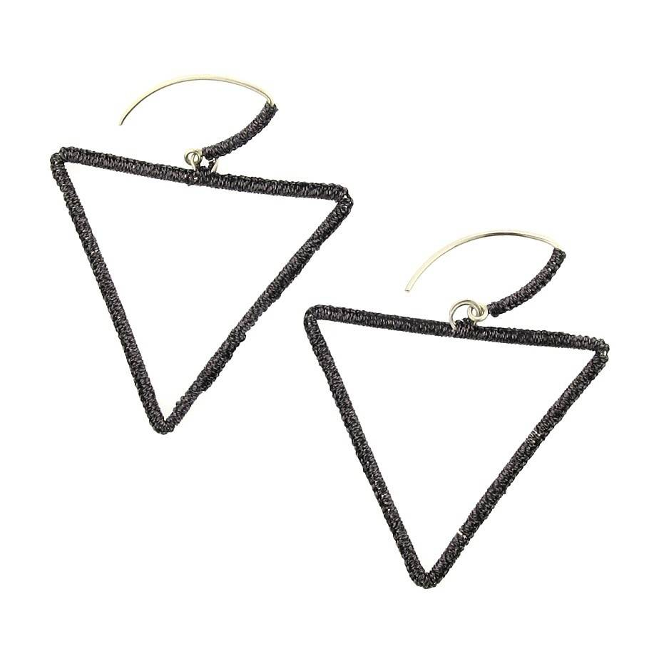 Simon Alcantara Phi Ratio Earrings with silver cord