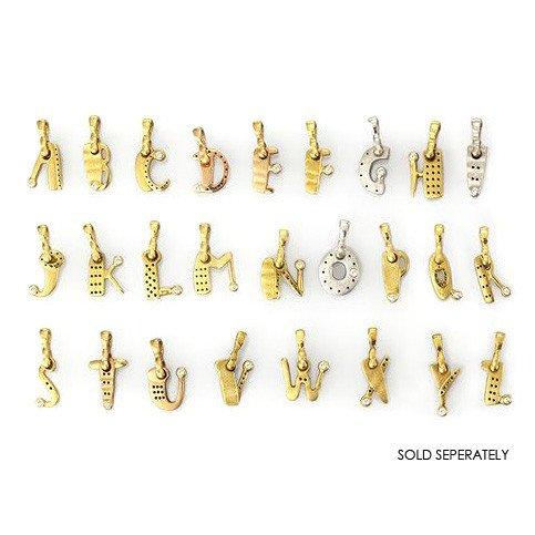 """Alex Sepkus Gold """"H"""" Letter pendant"""