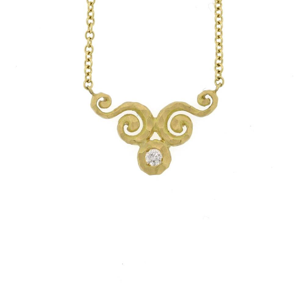 Pamela Froman Crushed Gold Fade Arabesque Necklace