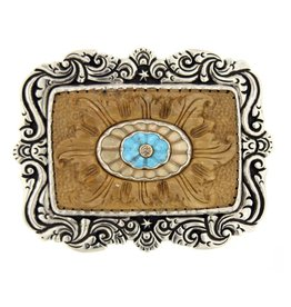 Artifactual Carved Gemstone Trophy Belt Buckle