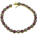 Estate Mughal Ruby & Diamond Bracelet