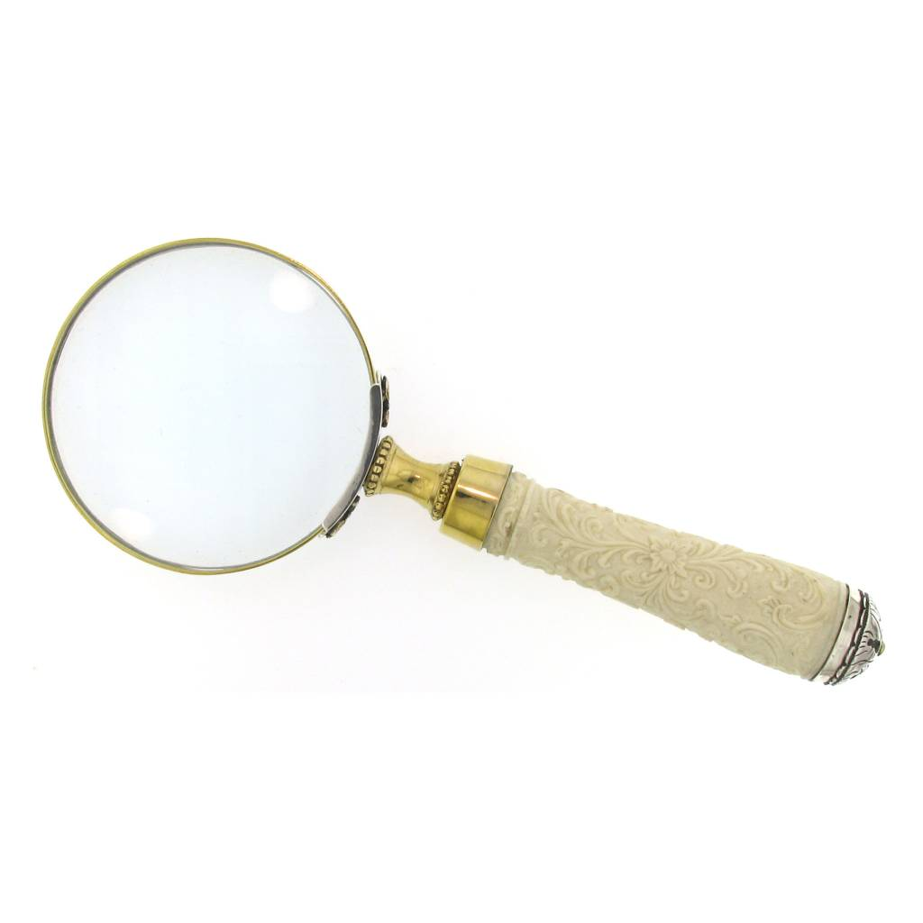 Artifactual Carved Handle Magnifying Glass
