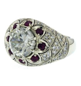 Estate Estate Deco Ring with Rubies