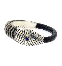 Artifactual Horse Hair Lapis Shrimp Bracelet