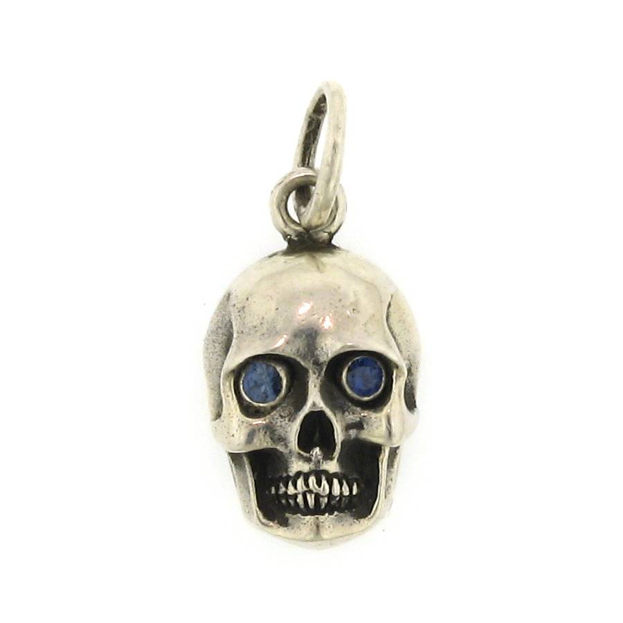 Artifactual Skull With Blue Sapphire Eyes
