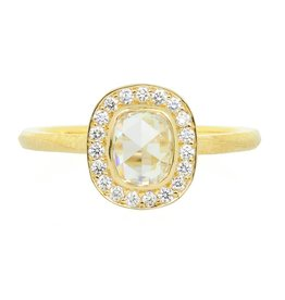Patrick Mohs Wave Bezel Halo Solitaire Ring
