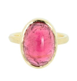 Patrick Mohs Wave Bezel Solitaire Pink Tourmaline Ring