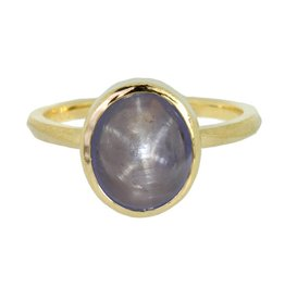Patrick Mohs Wave Bezel Solitaire Star Blue Sapphire Ring