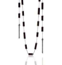 Kir Wood Pipe Tassel Necklace