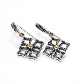 Kir Single Cross Drop Earrings