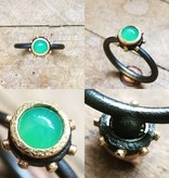 Alex Boyd Spinning Chrysoprase Silver Ring
