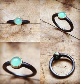 Alex Boyd Chrysoprase Solitaire Ring