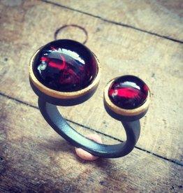 Alex Boyd Double Garnet Ring