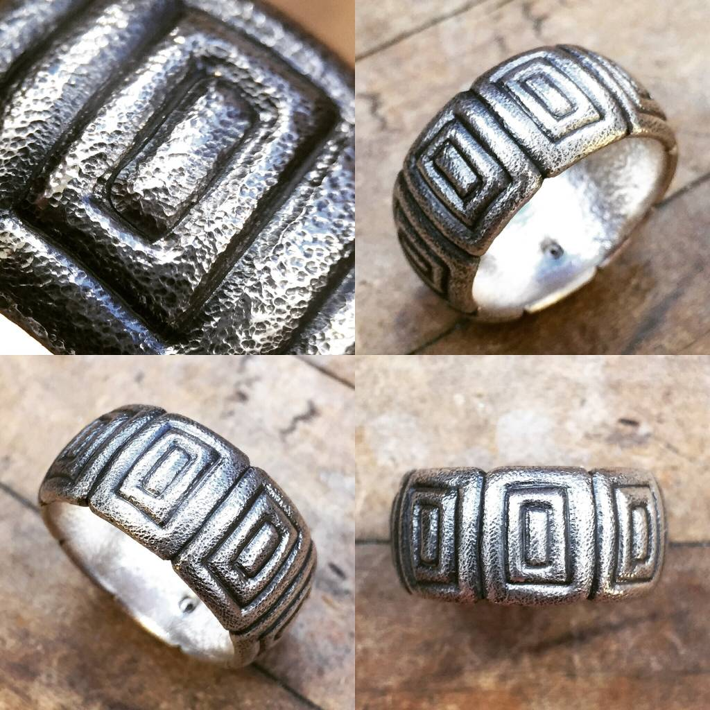 Alex Boyd Geometric Carved Band