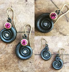Alex Boyd Swirl Tourmaline and Diamond Earrings