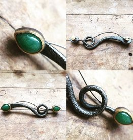 Alex Boyd Loop Adventurine Pendant/Pin