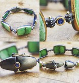 Alex Boyd Grossular Garnet & Sapphire Silver Bracelet
