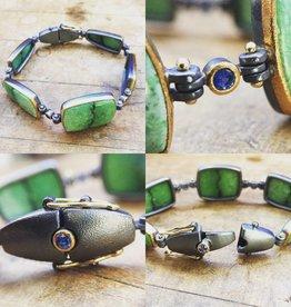 Alex Boyd Grossular Garnet & Sapphire Bracelet