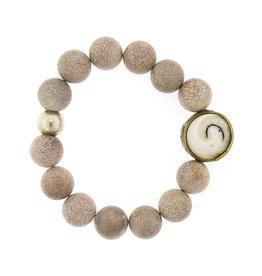 Elizabeth Martin Riverstone, Shell & Trade Bead Bracelet