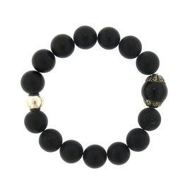 Elizabeth Martin Onyx & Silver Bracelet