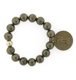 Elizabeth Martin Pyrite & Rupee Coin Bracelet