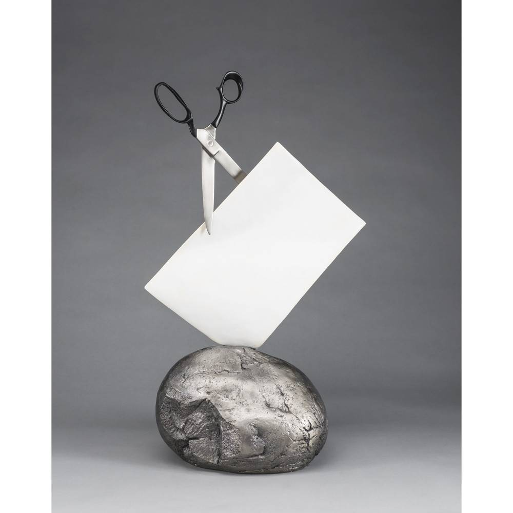 Kevin Box Rock Paper Scissors - Envelope Black Sculpture