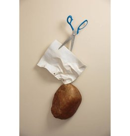 Kevin Box Wall Hanging Rock, Paper, Scissors with blue handles