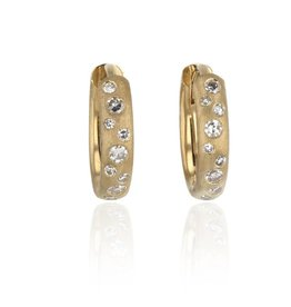 Lisa Des Camps Diamond Huggie Earrings