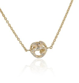 Lisa Des Camps Heart Ball Diamond Necklace