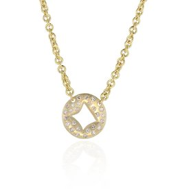 Lisa Des Camps Pillow Diamond Charm Necklace