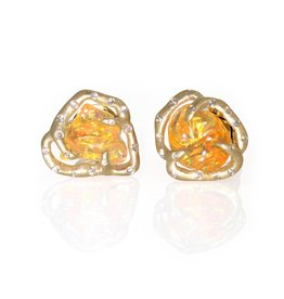 Lisa Des Camps Fire Opal Studs