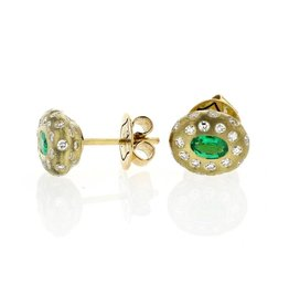 Lisa Des Camps Breeze Emerald Studs