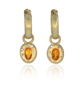 Lisa Des Camps Earrings with Fire Opal