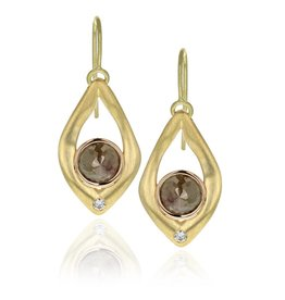 Lisa Des Camps Rustic Diamond Earrings
