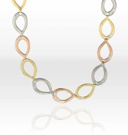 Lisa Des Camps Slinky Link tri-color Necklace