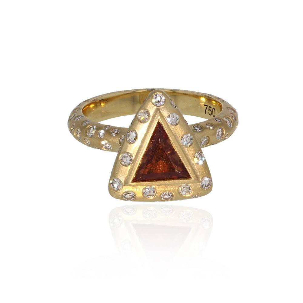 Lisa Des Camps Trinite Ring with Orange Sapphire