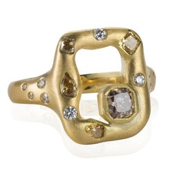 Lisa Des Camps Emeraude Ring