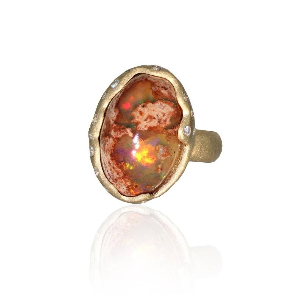 Lisa Des Camps Cosmos Ring with Matrix Opal