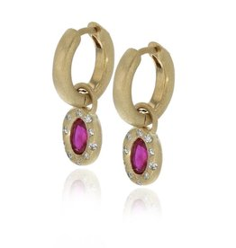 Lisa Des Camps Earrings with Ruby